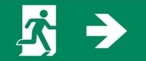 naar rechts uitgang